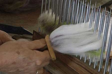 Using Hackles to make a roving